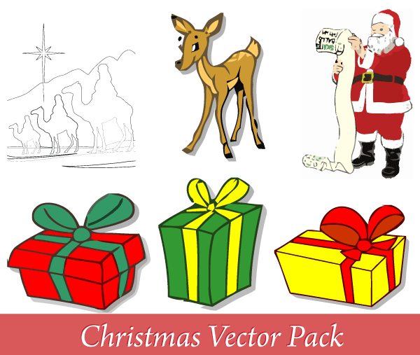 600x507 Free Merry Christmas Vector Pack Free Psd Files, Vectors