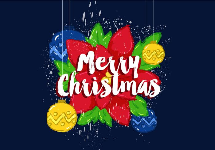 700x490 Free Merry Christmas Vector Poster
