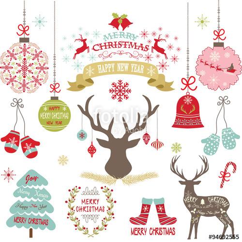 500x500 Merry Christmas,christmas Flowers,deer,rustic Christmas,christmas
