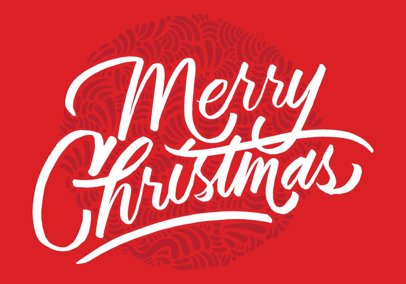1400x980 Merry Christmas Brush Script Vector
