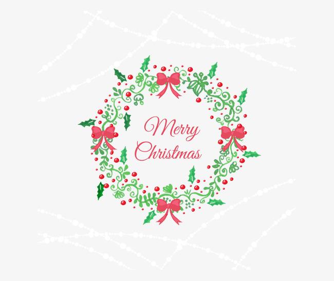 650x547 Vector Merry Christmas Ornament Wreath, Christmas Vector, Ornament