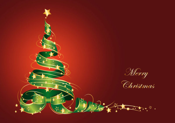600x422 Merry Christmas Vector Free Download Image