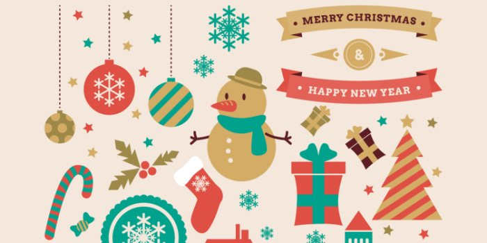 700x350 Free Christmas Vector Graphics Amp Party Flyer Templates