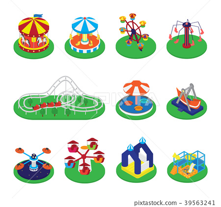 450x422 Carousel Vector Merry Go Round Or Roundabout