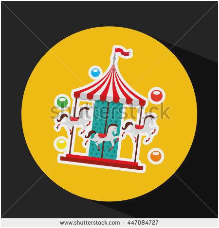 450x470 Merry Go Round Horse Template Unique Vector Illustration Children