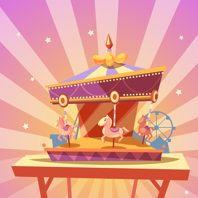 400x400 Merry Go Round On Curated Vector Illustrations, Stock Royalty Free