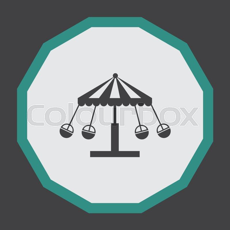 800x800 Merry Go Round Vector Icon. Carousel Sign. Circus Symbol Stock