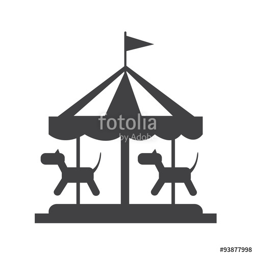 500x500 Merry Go Round Icon Stock Image And Royalty Free Vector Files On