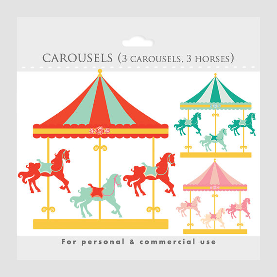 570x570 Carneval Clipart Merry Go Round