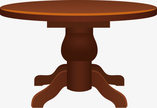 650x446 Roundtable Vector, Wooden Round Table, Table, Vector Png And