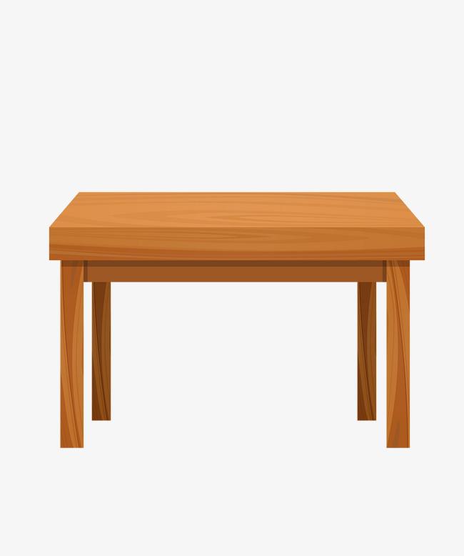 650x778 Vector Yellow Rectangular Table Wooden, Vector Table, Yellow Table