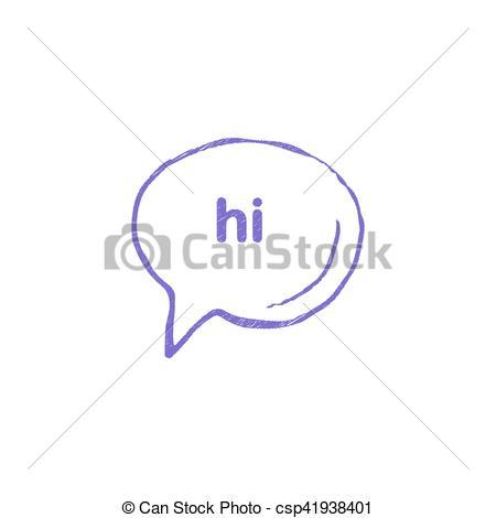 450x470 Speech Bubble Vector Icon. Hand Drawn Vector Speech Bubble. Trendy
