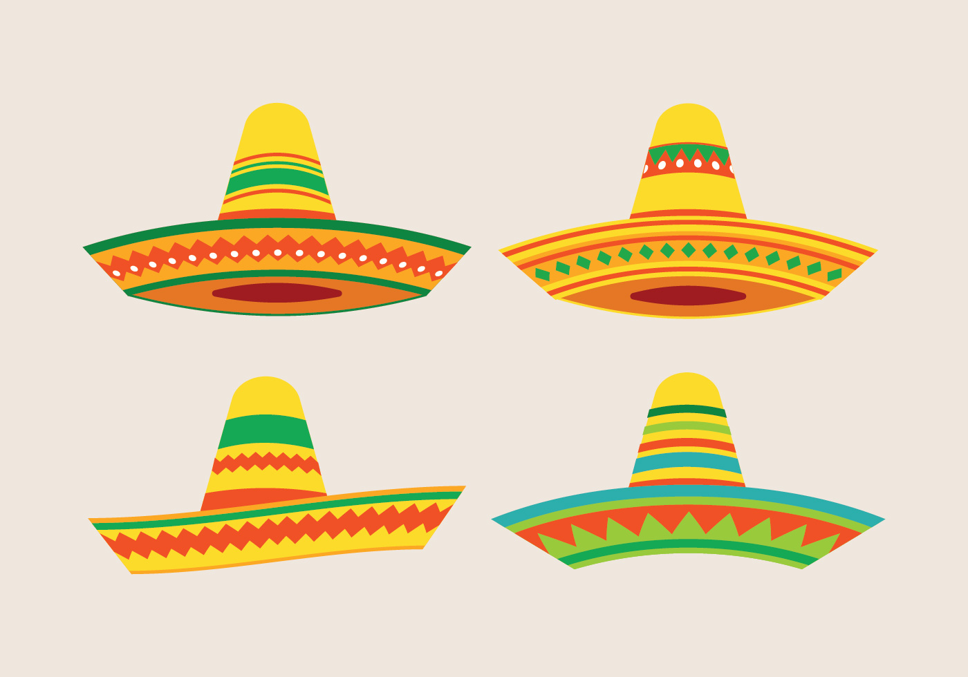 1400x980 Mexican Hat Free Vector Art