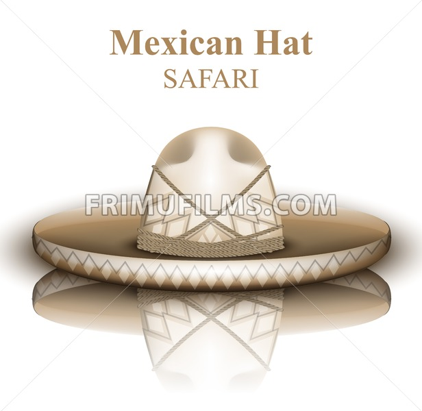 616x600 Mexican Hat Vector Realistic. Detailed 3d Illustration Frimufilms