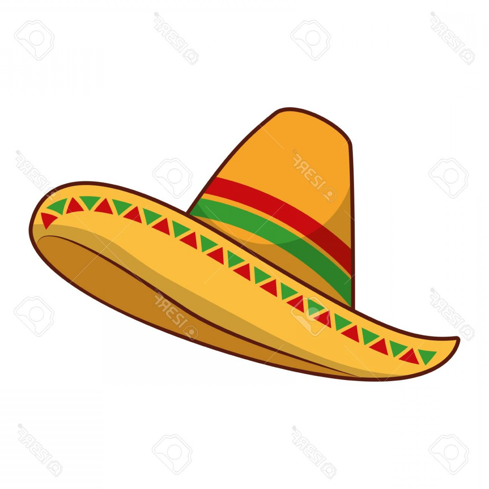 1560x1560 Photostock Vector Mexican Hat Isolated Icon Vector Illustration