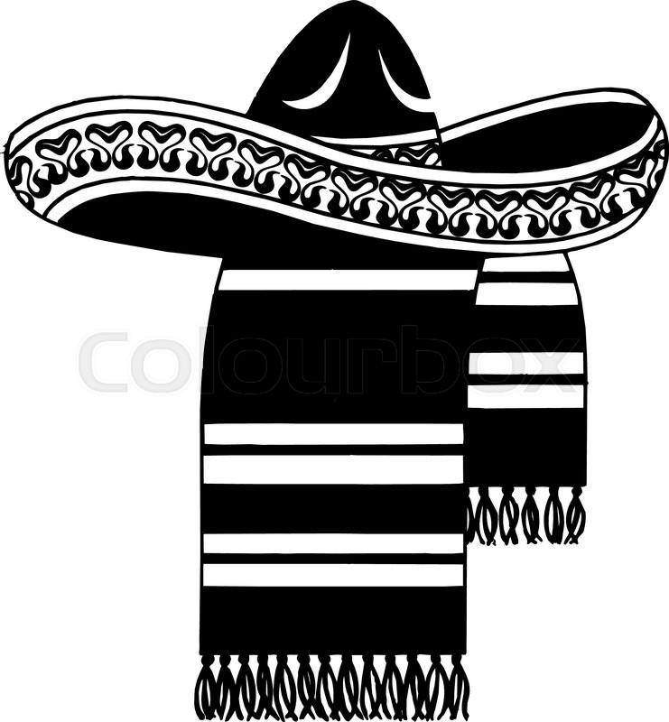 741x800 Sombrero (Mexican Hat) Stock Vector Colourbox