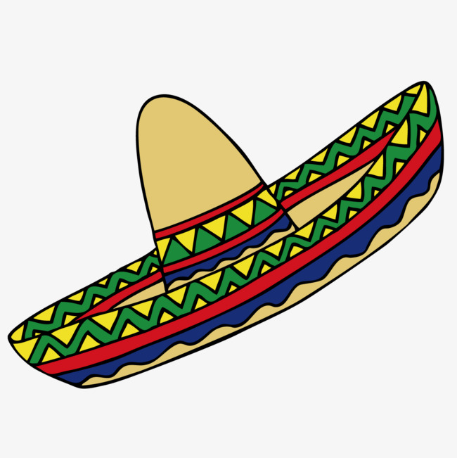 650x651 Cartoon Mexican Hat, Cartoon, Hat, Color Png And Vector For Free