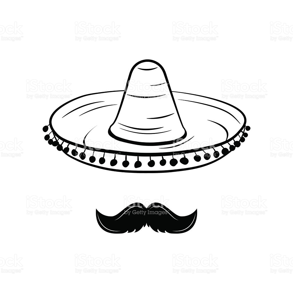 1024x1024 Mexican Mustache Clip Art Sombrero And Mustache Mexico Hat