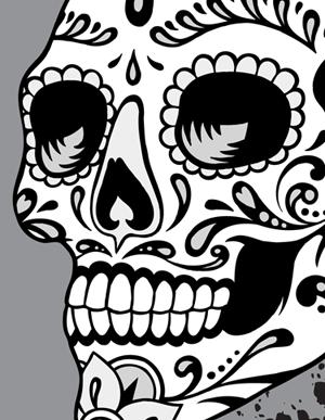 300x387 Sugar Skull Vector Dia De Los Muertes Sugar Skulls