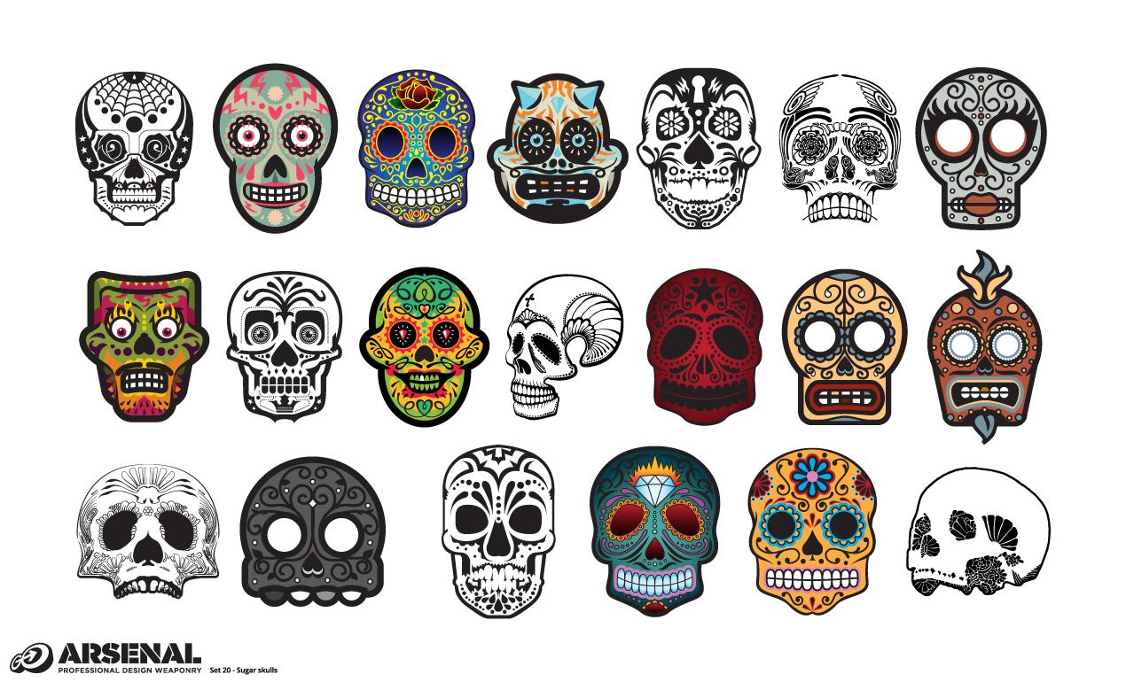 1270x770 Adobe Illustrator Skull Candy Mexican Sugar Skull