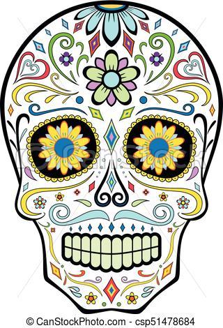 320x470 Sugar Skull. Mexican Sugar Skull