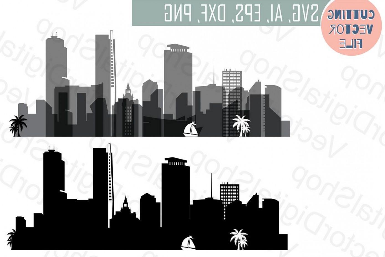1389x926 Miami Skyline Vector Florida Usa City Svg Jpg Png Dwg Cdr Eps Ai