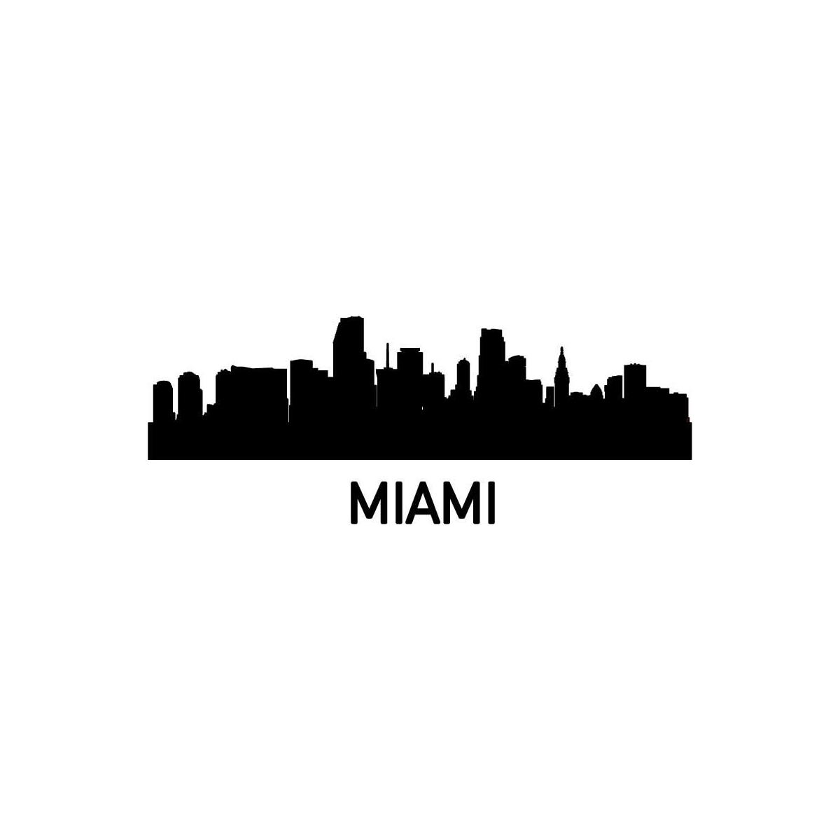 1200x1200 Miami Clipart La Skyline