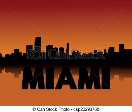 450x380 Miami Skyline