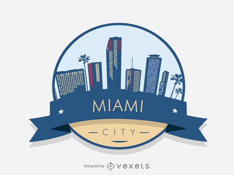 760x570 Miami Skyline Badge