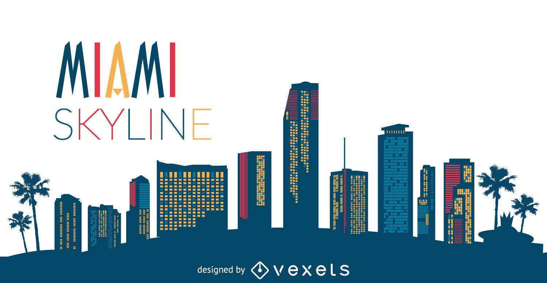 1500x777 Miami Skyline Silhouette
