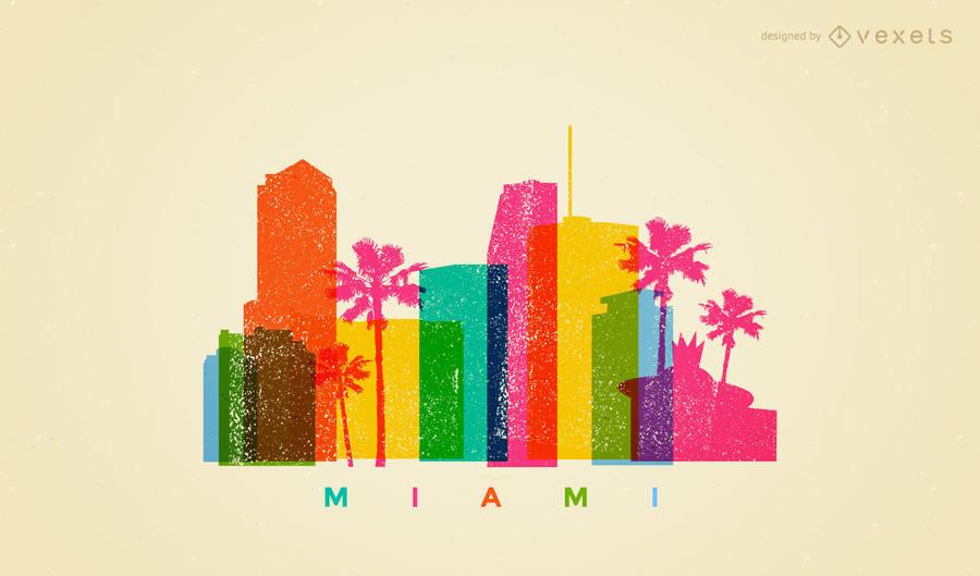 900x529 Miami Colorful Skyline