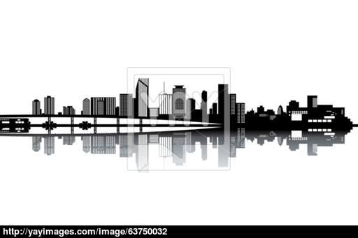 512x341 Miami Skyline Vector