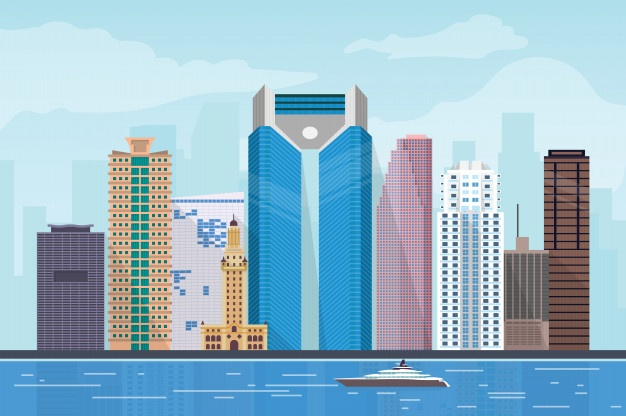 626x416 Skyline Miami Vectors, Photos And Psd Files Free Download