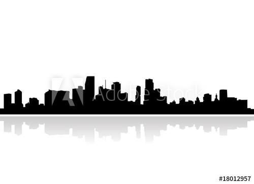 500x363 Miami Skyline Vector