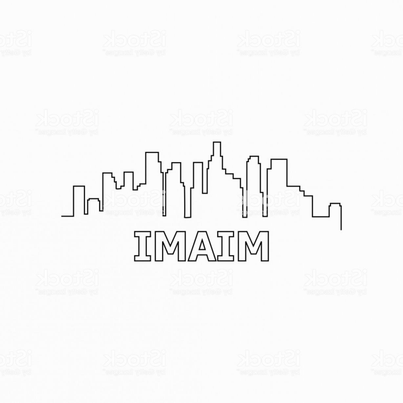 1228x1228 Miami Skyline And Landmarks Silhouette Black Vector Icon Miami