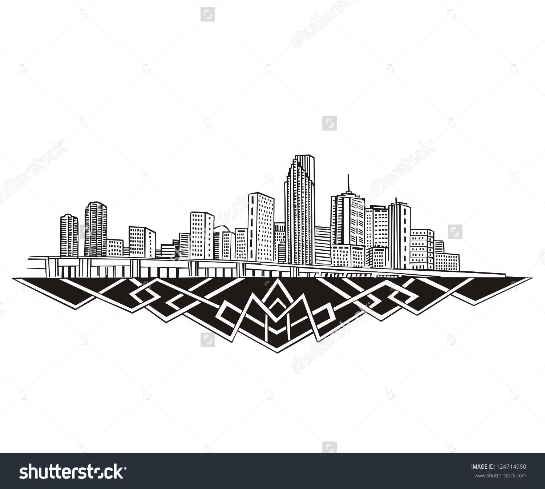1500x1346 Miami Skyline Clipart