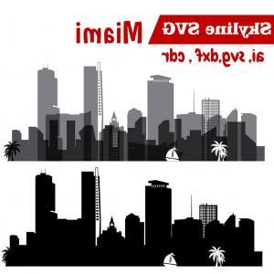 300x300 Miami Svg Miami City Vector Skyline Orangiausa