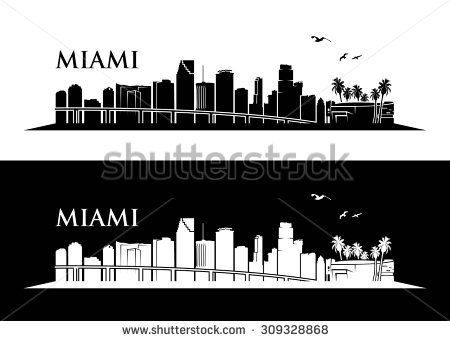 450x341 Collection Of Miami Skyline Clipart High Quality, Free