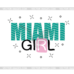 300x300 Print Background And Slogan. For T Shirt . Miami