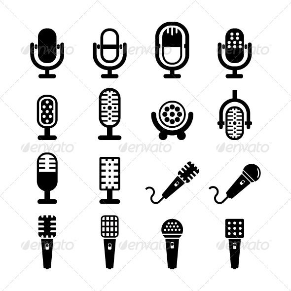 590x590 Microphone Vector Fonts Logos Icons