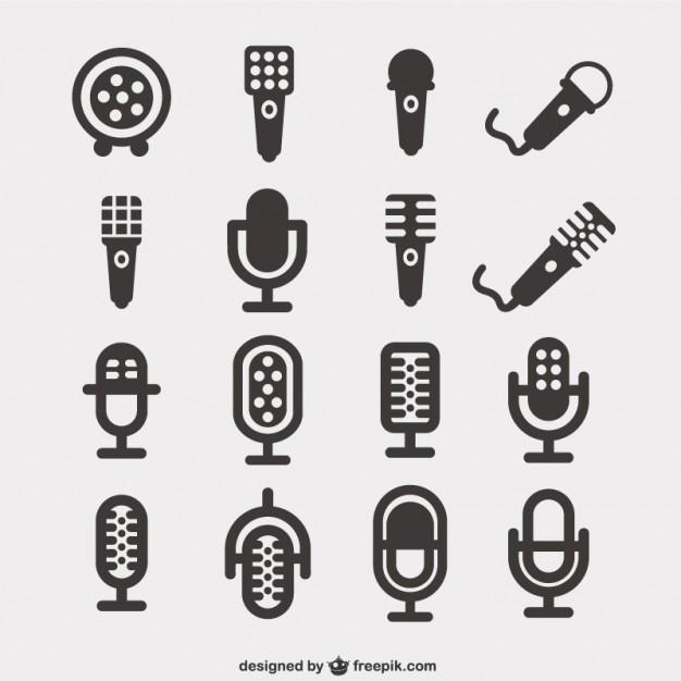626x626 Microphone Icons Pack Vector Free Download