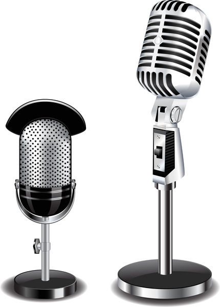 430x600 Microphone Illustration Free Vector In Adobe Illustrator Ai ( .ai