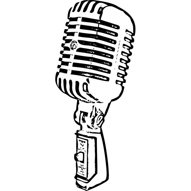 660x660 Retro Mic Free Vector 123freevectors