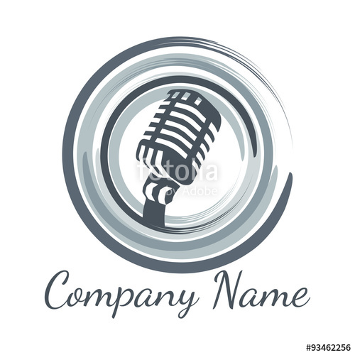 500x500 Microphone Logo Vector Stock Image And Royalty Free Vector Files