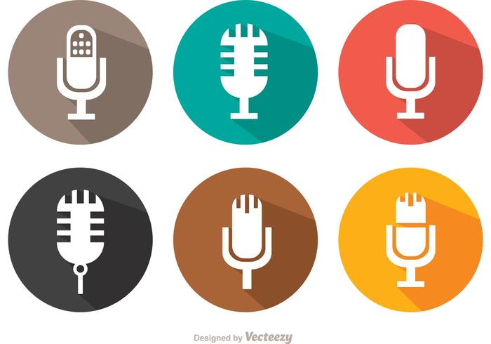 700x490 Flat Microphone Vector Pack