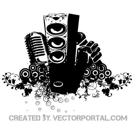 456x456 Free Speakers Mic And Flowers Free Vector.eps Clipart And Vector