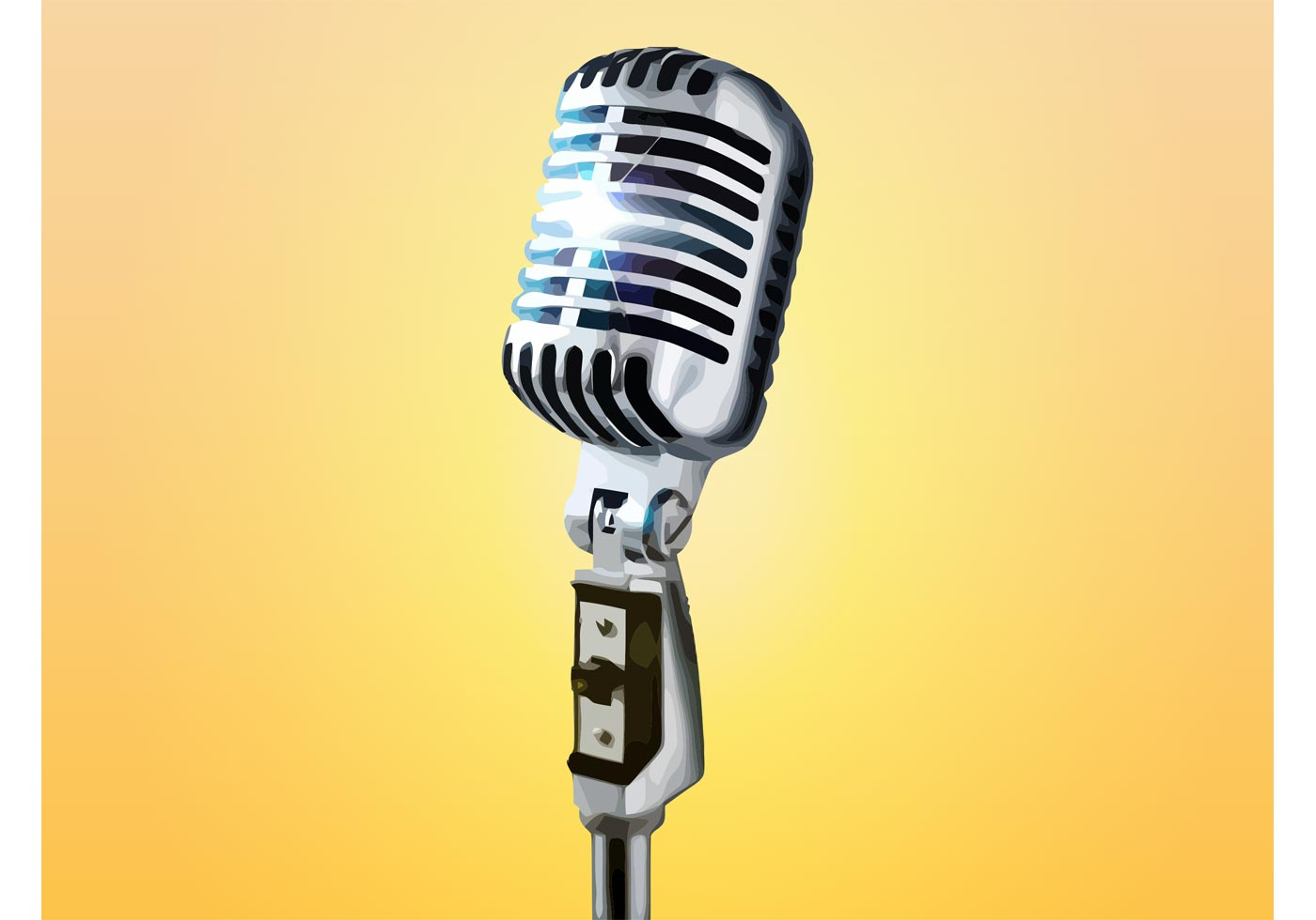 1400x980 Microphone Stand Free Vector Art