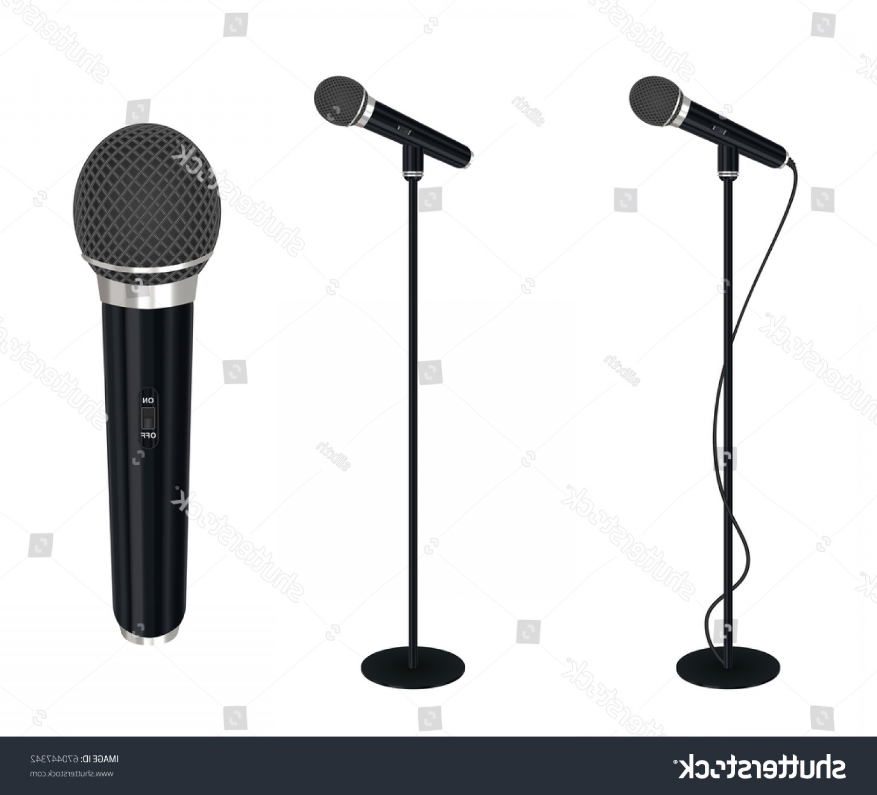 1800x1632 Microphone Stand Vector On White Background Shopatcloth