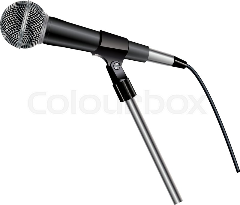 800x683 Microphone On Stand Stock Vector Colourbox