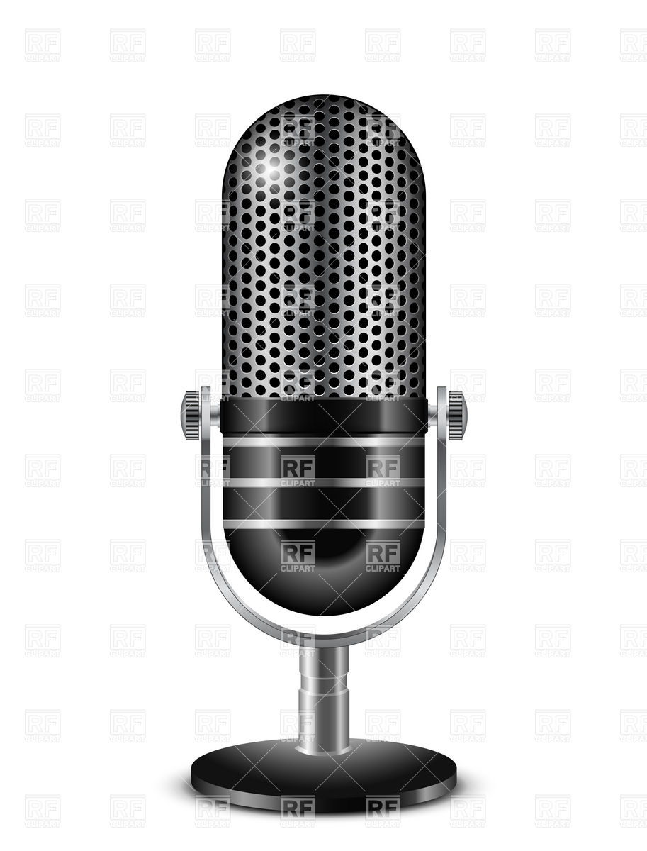 913x1200 Retro Microphone Vector Image Vector Artwork Of Objects Frbird